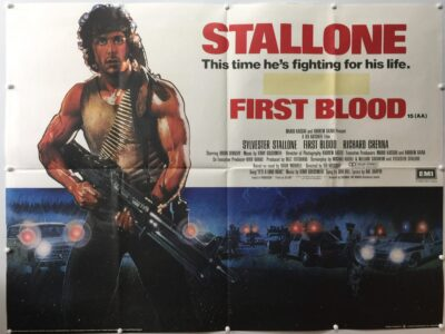 First Blood Rambo 1982 UK Quad