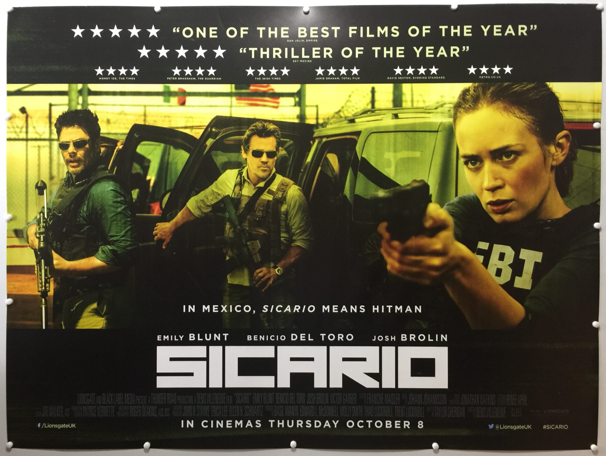 Sicario | 2015 | Final | UK Quad » The Poster Collector