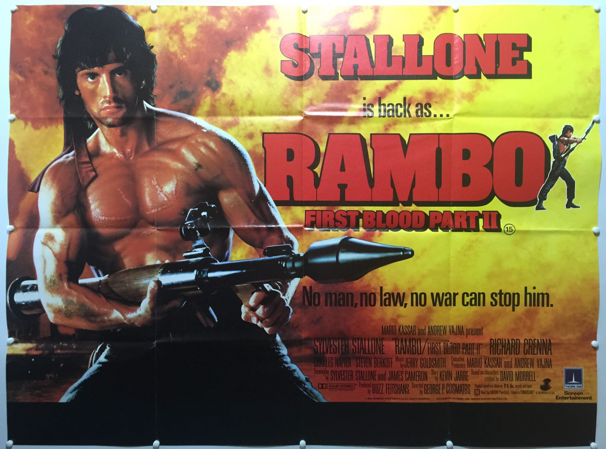 Rambo First Blood Part Ii 1985 Final Uk Quad The Poster Collector
