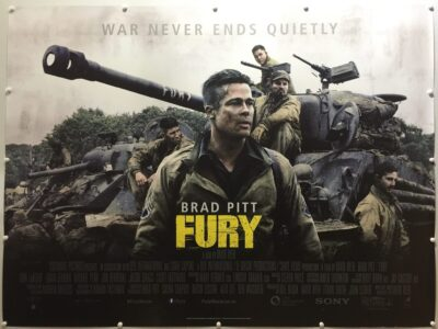 Fury Final Cast Style UK Quad