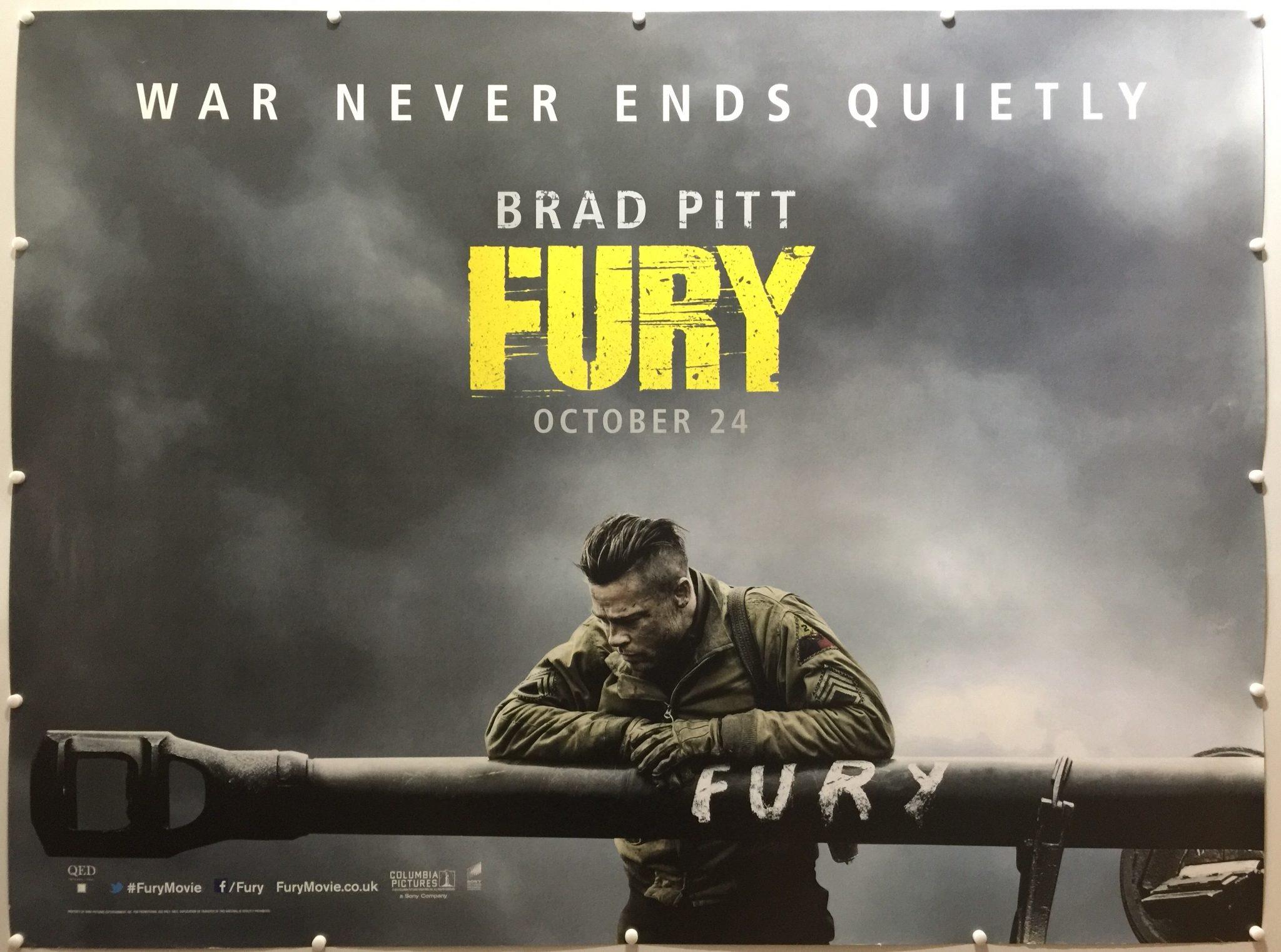 fury 2014 advance brad pitt style uk quad 187 the
