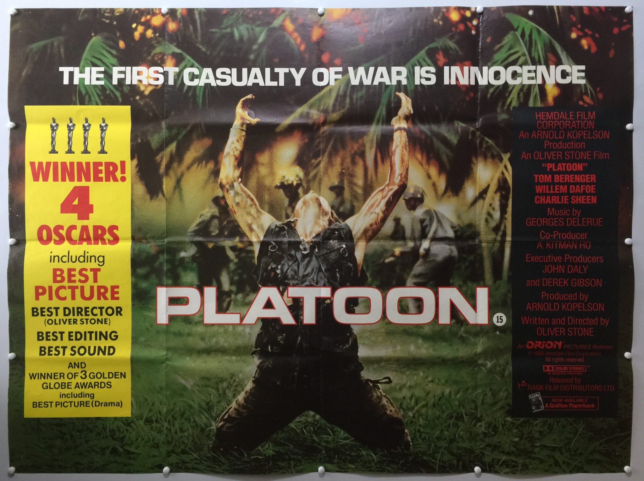 Platoon | 1986 | Final | UK Quad » The Poster Collector