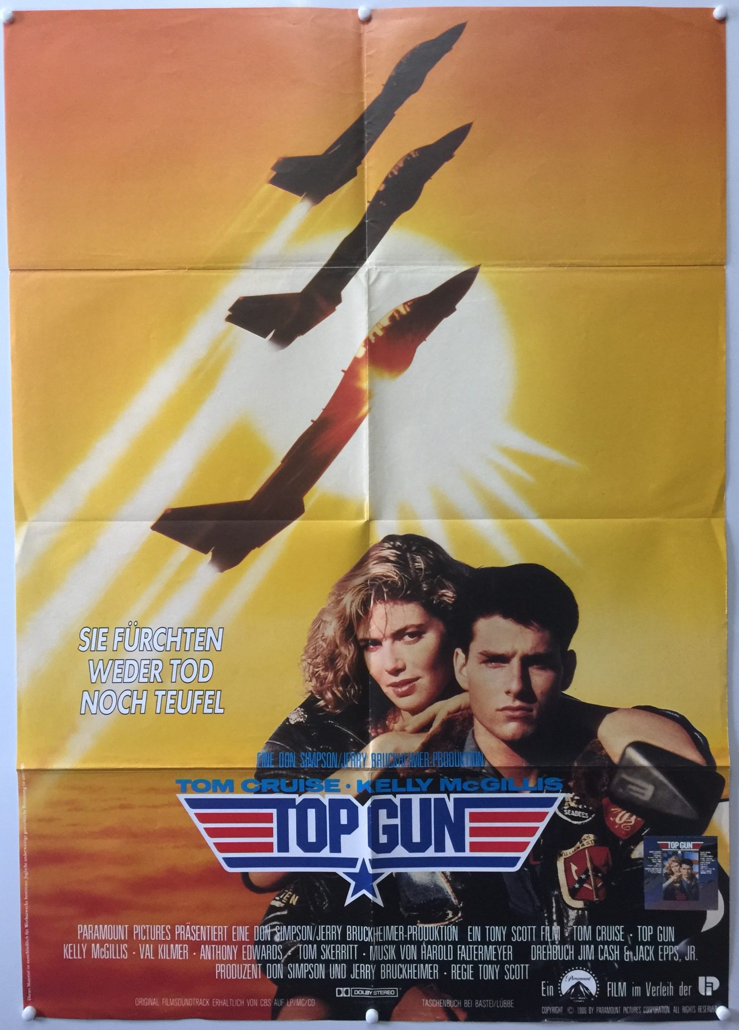 Top gun 1986 style a german a1 the poster collector for What is the best poster website
