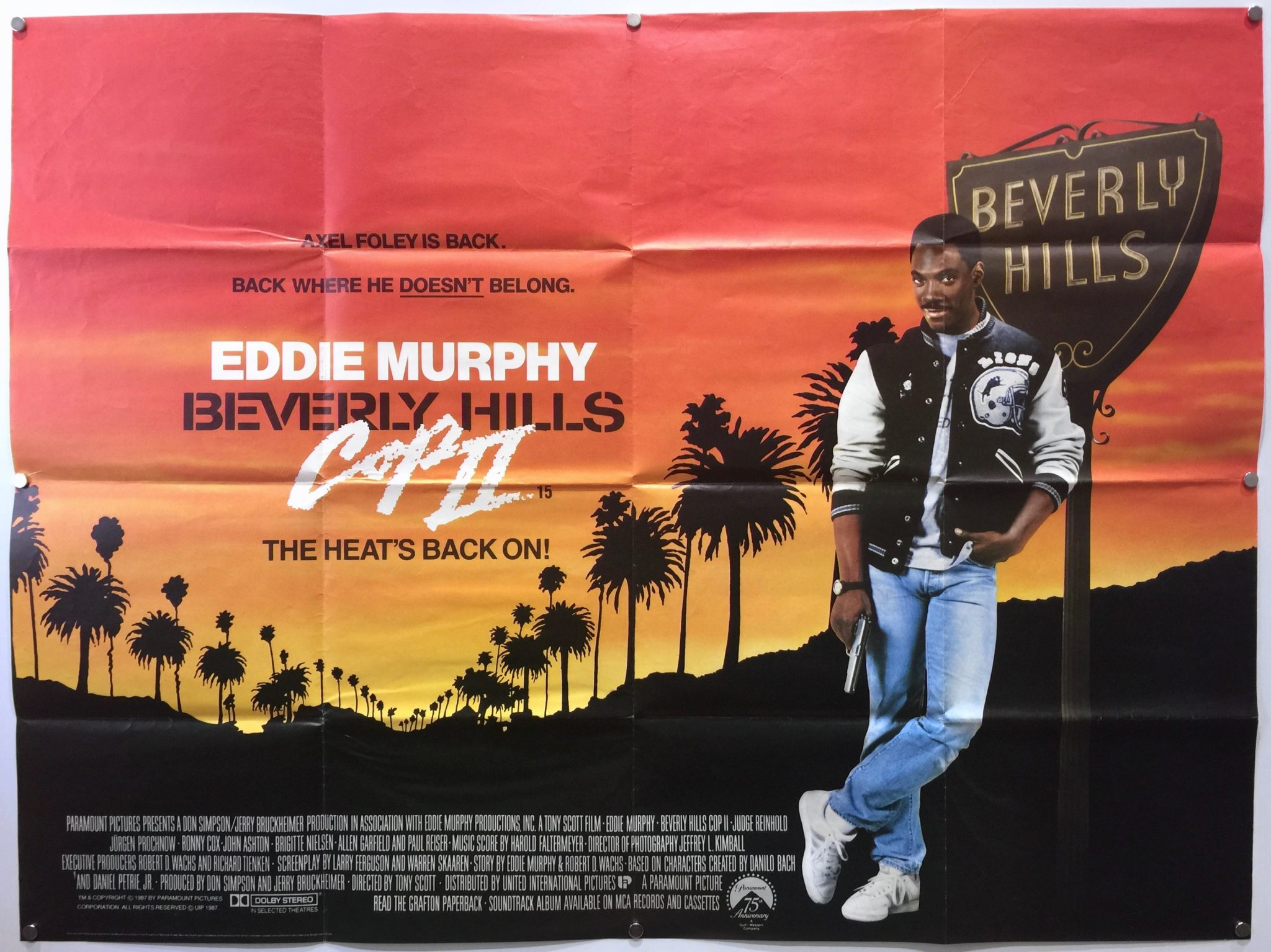 Beverly Hills Cop Ii 1987 Uk Quad The Poster Collector