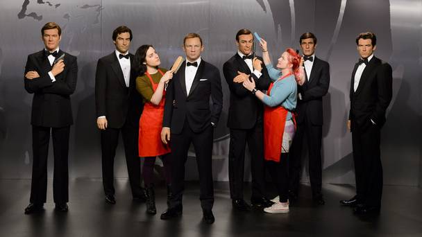 For Your Eyes Only: The Madame Tussauds James Bond Collection Artists Cleaning