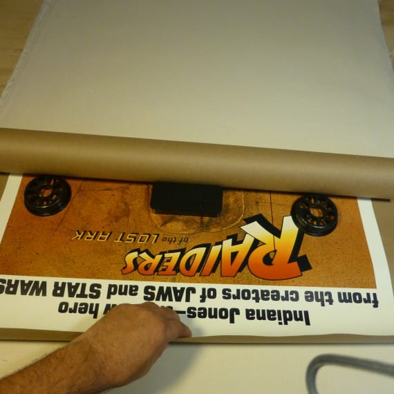Ship Rolled and Folded Movie Posters Rolled Step 2