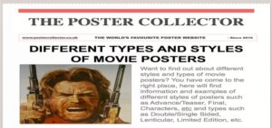 Different Types and Styles of Movie Posters