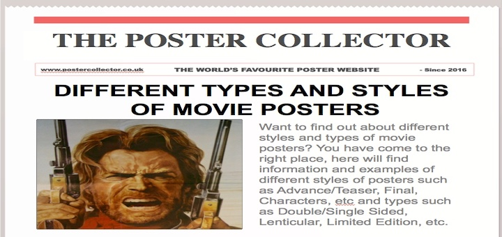 different types and styles of movie posters 187 the poster