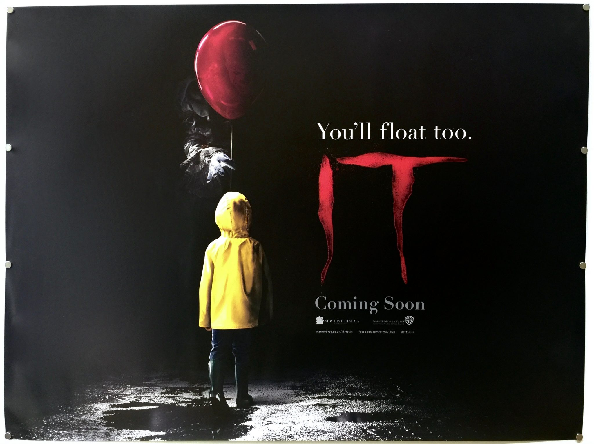 IT : 2017 : Teaser : UK Quad u00bb The Poster Collector