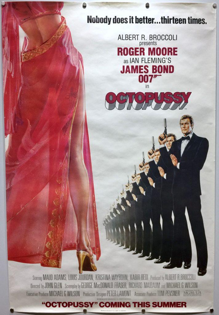 James Bond Octopussy UK One Sheet 1983 ADVANCE