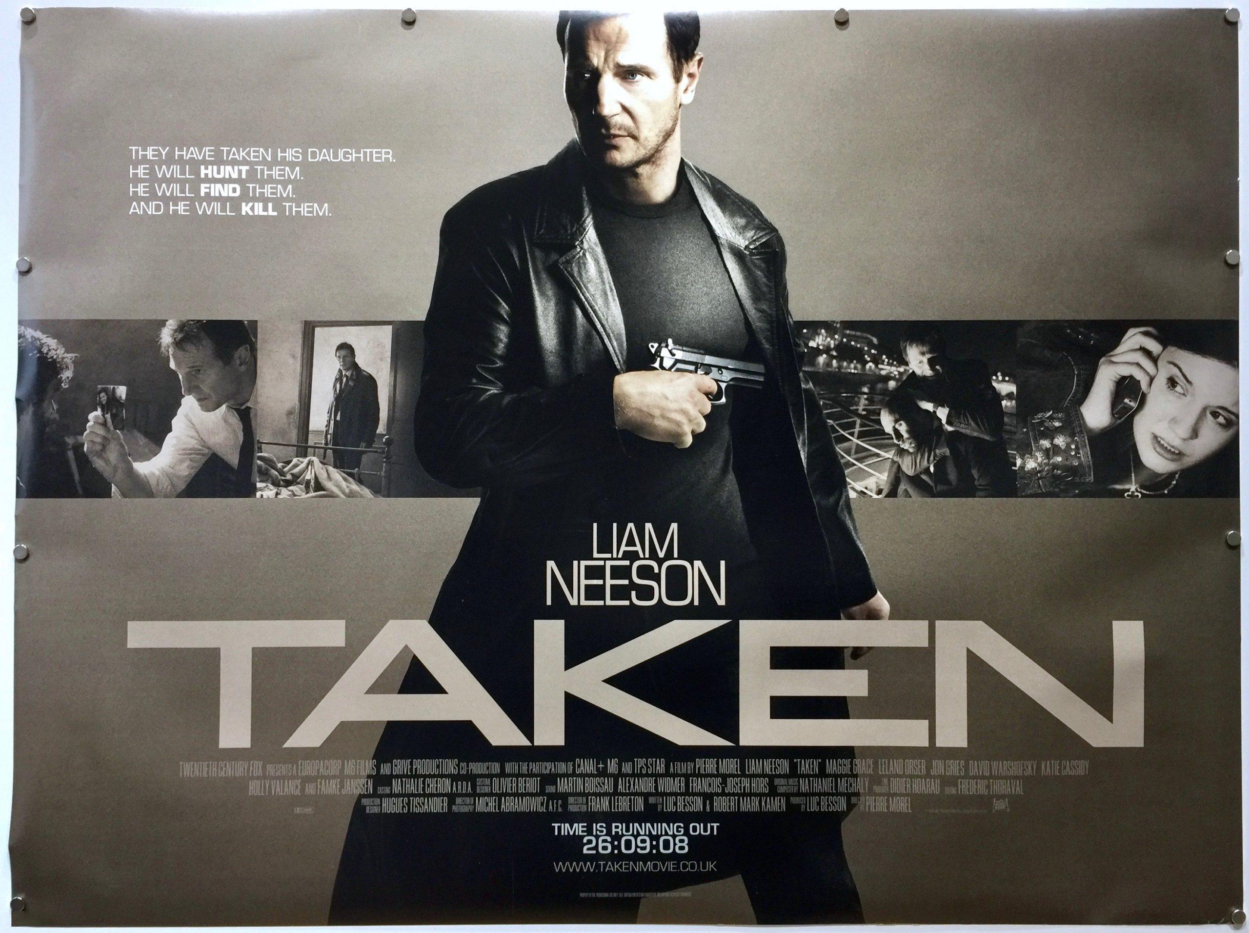 Taken 2008 Uk Quad The Poster Collector